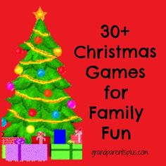 Lots of Christmas Game Ideas along with many printables. Fun games for families or groups at Christmas time.: