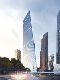 Moscow's New Supertall Skyscraper Approved for Construction, High-rise Residential Complex. Image Courtesy of Sergey Skuratov Architects Futuristic Architecture, Amazing Architecture, Contemporary Architecture, Architecture Details, Architecture Board, Future Buildings, Unique Buildings, Amazing Buildings, Tower Building