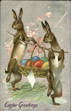 Easter Greetings Bunnies