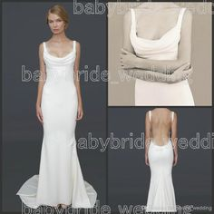 Wholesale Covered Button - Buy 2014 Katie May BARCELONA GOWN Wedding Dresses with Cowl Neck Straps Lace Open Back Beach Wedding Gowns with Straps Sheath Bridal Dresses, $122.2 | DHgate.com