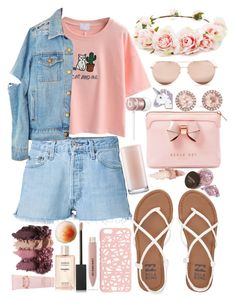 """Pastel look"" by nelicaaa ❤ liked on Polyvore featuring WithChic, RE/DONE, Billabong, Miss Selfridge, Beats by Dr. Dre, Dana Rebecca Designs, Burberry, Chanel, Jessica Simpson and Ted Baker"