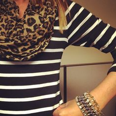 stripes + leopard -- cute combo