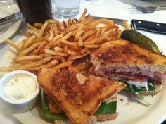 Salmon Sandwich from Hugo's Frog Bar!