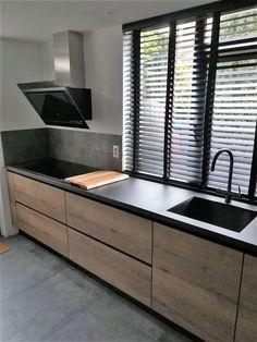 Industrial Kitchen Design, Kitchen Room Design, Home Room Design, Modern Kitchen Design, Modern House Design, Interior Design Kitchen, Cuisines Design, Future House, Home Kitchens