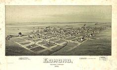 Aerial View of Edmond from 1891. Edmond has grown!!
