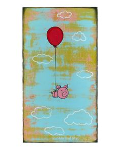 Love it.  Flying Pig Print by ConstantDreamer on Etsy,