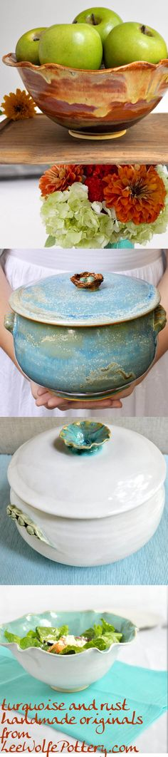new works just listed! from Lee Wolfe Pottery