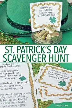 Get a letter from a leprechaun and follow the clues to find a pot of gold! Kids will love this fun St Patrick's Day activity - includes printable clues and instructions.