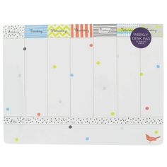 dotty stripe desk pad from Paperchase
