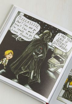 Darth Vader and Son. Explore an alternate universe where Darth Vader is fighting to be Father of the Year - instead of the enemy of the Rebel Alliance - when you open this epically charming book by Jeffrey Brown! Star Wars Clone Wars, Star Wars Art, Lego Star Wars, Star Wars Jokes, Star Wars Comics, Vintage Books, Retro Vintage, Darth Vader And Son, Star Wars Pictures