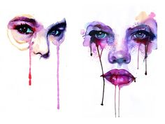 Watercolor By Marion Bolognesi  http://www.creativeboysclub.com/watercolor-by-marion-bolognesi