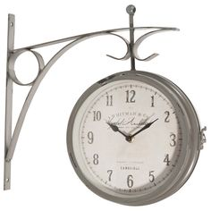 Horloge applique en métal D 34 cm ...