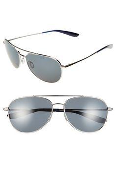 Women's Kaenon 'Driver' 60mm Polarized Sunglasses - Chrome