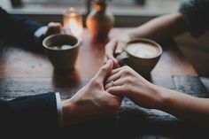 Coffee and holding hands