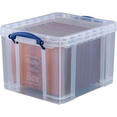 Buy Really Useful 35 Litre with 10 A4 Files - Transparent at Argos.co.uk - Your Online Shop for Plastic storage boxes and units.