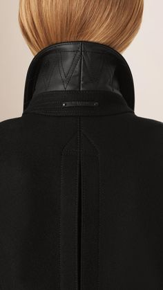 Cropped Wool Cashmere Blend Jacket | Burberry