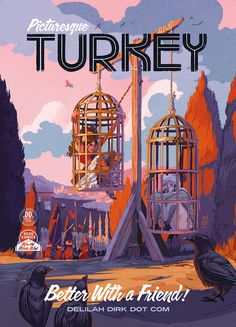 These travel posters of Delilah Dirk by artist and author Tony Cliff are just full of fun and adventure. The posters were created to promote the comic book Delilah Dirk and the Turkish Lieutenant.