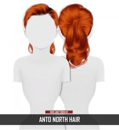 ANTO NORTH HAIR KIDS AND TODDLER VERSION by Thiago Mitchell by Redheadsims for The Sims 4
