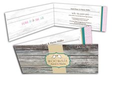 Einladungskarte Hochzeit - Vogelfrei