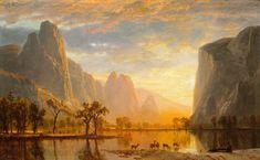 """Valley of the Yosemite"", 1864, Albert Bierstadt (American (born in Germany), 1830–1902. Oil on paperboard."