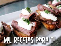 Pan Crocante con Roast Beef y crema de rábano picante