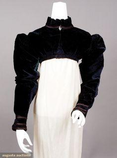 Silk velvet spencer jacket, c. 1815 - Tasha Tudor collection