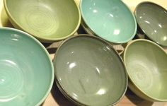 """YOU CHOOSE COLOR--6"""" Handmade Bowl-- Hand crafted pottery--  for cereal / soup / salad. $14.00, via Etsy."""