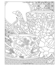 Elegant Tea Party Coloring Book: You're Invited...Relax and Enjoy: Laurie Triefeldt: 9781610352840: Amazon.com: Books