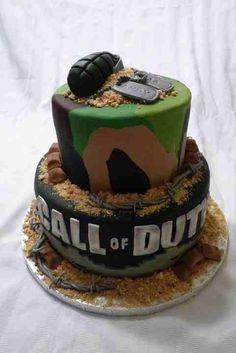 Call of Duty Grooms Cake #timelestreasure