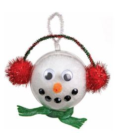 Nicole™ Crafts Snowman Bubble Ornament #ornaments #craft #christmas