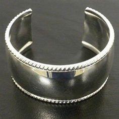 Silver Overlay Cuff Smooth Design - Artisana