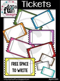 FREE:  Ticket Clip Art ~Dots of Fun Designs~