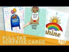 I am here to share with you a few fun interactive card designs. All of these cards feature pull tab surprises. Card Making Inspiration, Making Ideas, Surprise Gifts For Him, Jennifer Mcguire Ink, Slider Cards, Interactive Cards, Mama Elephant, Making Greeting Cards, Fun Fold Cards