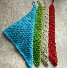 kleine Handtücher aus Baumwollgarn, gestrickt