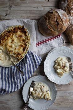 Pasticcio di Asparagi Bianchi e Taleggio (White Asparagus and Taleggio Cheese Lasagne)   From My Dining Table by Skye McAlpine