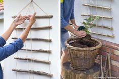 Discover recipes, home ideas, style inspiration and other ideas to try. Garden Club, Garden Pots, Plant Wall Diy, Jardin Decor, Wooden Trellis, Seaside Garden, Garden Makeover, Self Watering Planter, Growing Plants