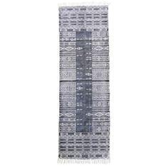 House Doctor vloerkleed Julia 70x240 cm zwart/ wit