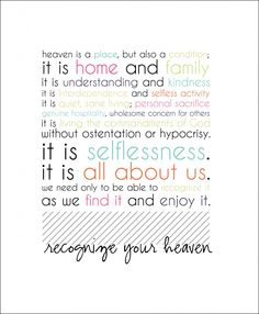 Recognize Your Heaven --> Free Printable