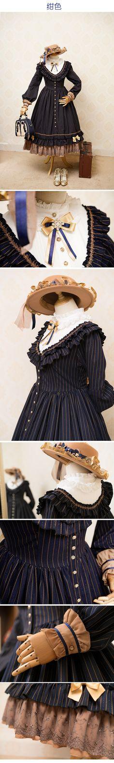 【幻之风原创lolita】~佛罗伦萨旅行者~优雅秋季开襟长裙【定金】-淘宝网全球站