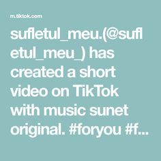 sufletul_meu.(@sufletul_meu_) has created a short video on TikTok with music sunet original. #foryou #foryoupage #fyy #fyp #films #foryoupageeee 💕🥺❗ The Originals, Music, Anime Stuff, Films, Baby, Style, Musica, Movies, Swag