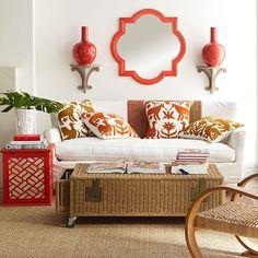 otomi cushions orange gold