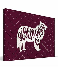 Look at this Texas A&M Aggies Mascot Canvas Art on #zulily today!