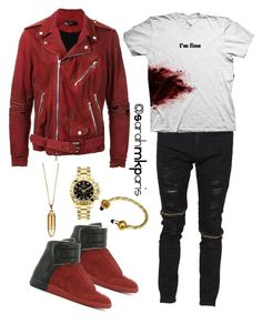 """Fashion Killa"" by sarahmkparis ❤ liked on Polyvore featuring AMIRI, Rolex, Akillis, men's fashion and menswear"