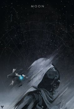 Destiny Planet Poster: Moon - Colin Morella