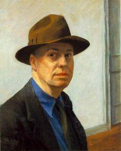 Edward Hopper (auto-retrato) era um homem alto, magro, calado, introspectivo, tímido, com um sentido de humor contido e social e politicamente conservador.