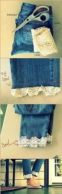 Idea to extend pants or shirts that are too short.