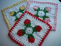 Tulip Dishcloth by Doni Speigle ~ free pattern & tutorial