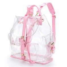 Clear Backpacks, Cute Backpacks, School Backpacks, Bag Women, Travel Bags For Women, Mochila Kpop, Shoulder Bags For School, Transparent Bag, Hiking Bag