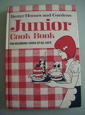 Better Homes and Gardens JUNIOR COOKBOOK 1972 Vintage Children's Cooking