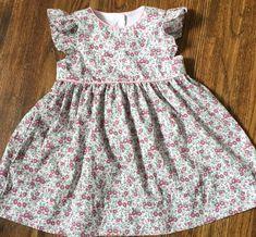Girls Spring Dresses, Girls Easter Dresses, Toddler Girl Dresses, Little Girl Dresses, Baby Dresses, Custom Dresses, Retro Dress, Flutter Sleeve, Girl Outfits